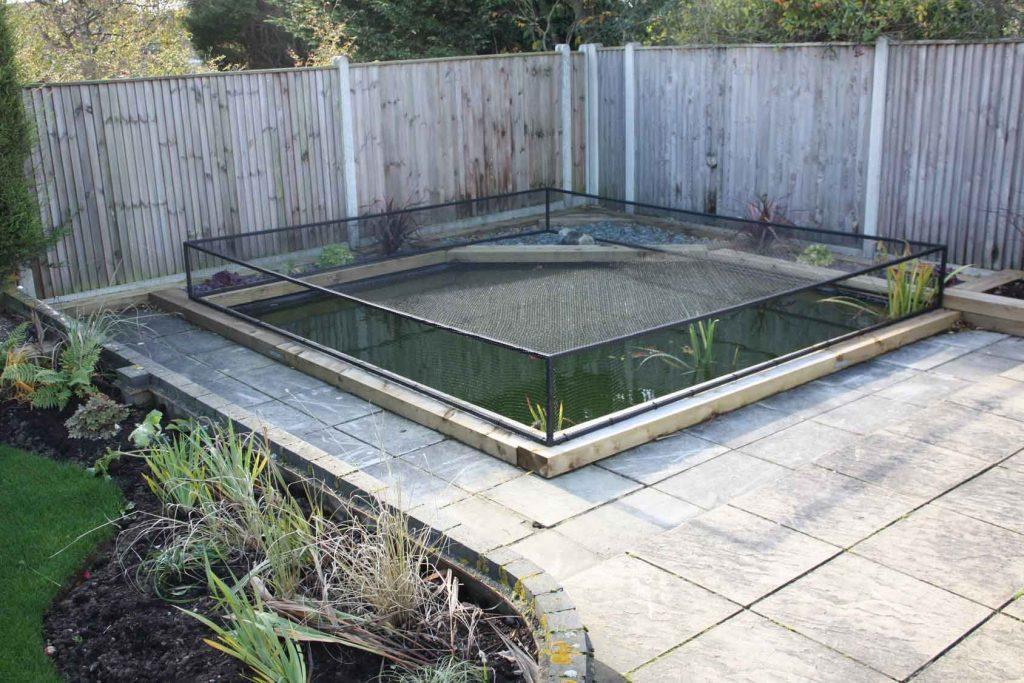 A nice garden pond cover